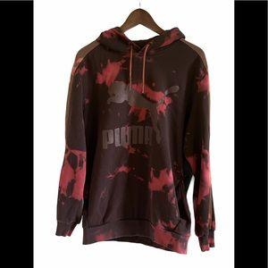 Puma tie-dye hoodie with pockets Large